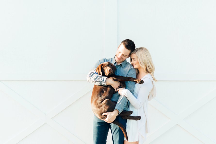 Anniversary session with a fur baby-white barn wedding venue-Something Minted Photography