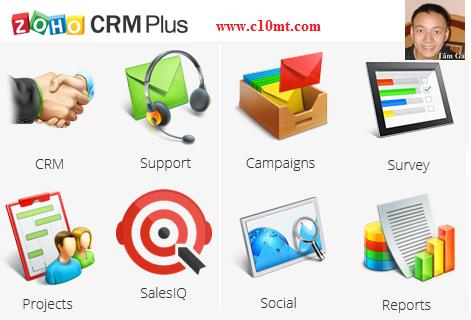 Phần mềm CRM quản lý quan hệ khách hàng ZohoCRM Plus