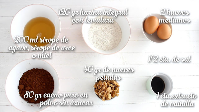 Ingredientes Brownie Saludable