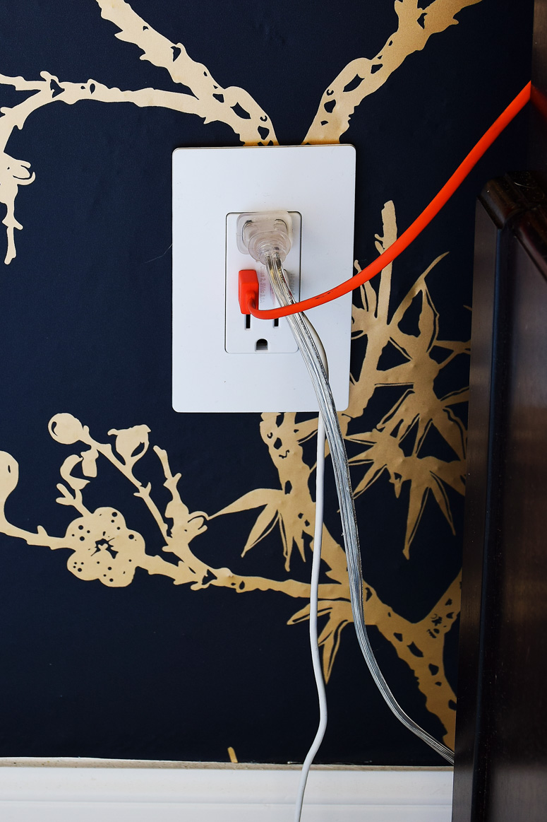 The best outlet for nightstands- features two electrical outlets AND two USB ports. This post goes over all the steps to get them installed.