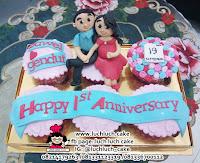 Cupcake Anniversary Romantis, Cantik dan Murah
