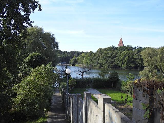 woda w Lubniewicach otoczona jest zielenią