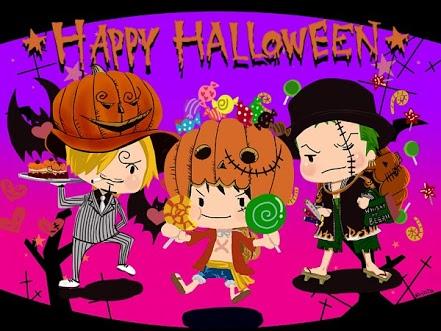 Kumpulan Gambar One Piece Special Halloween  Animasi