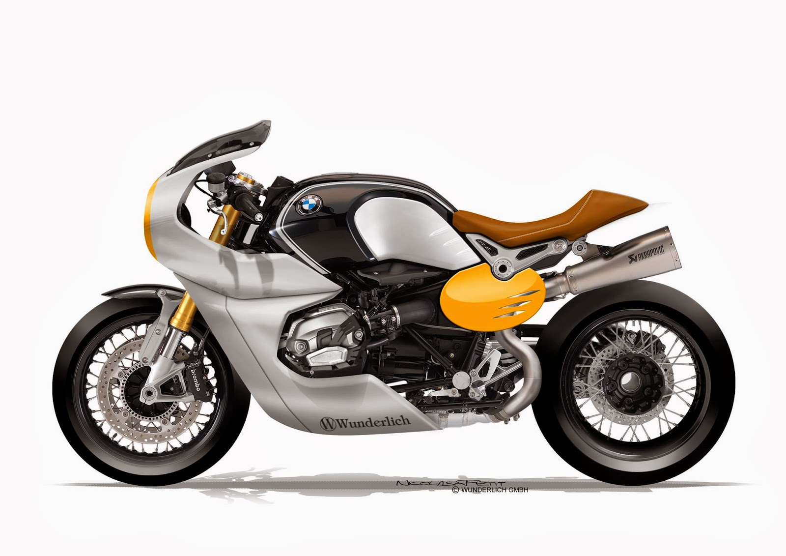 Design Corner - BMW R NineT by Petit Motorcycle Crèation. ""