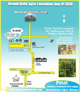 Peta ke M-SEED Jln. Kaliurang KM 19 PAKEM DIY