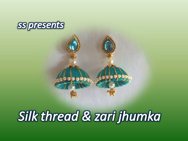 Here is silk thread jhumkas making at home,silk thread necklace,silkthread kids accessories,silk thread bangles making,silk thread choker ,silk thread jewellery making,How to make silk thread zari jhumka making at home