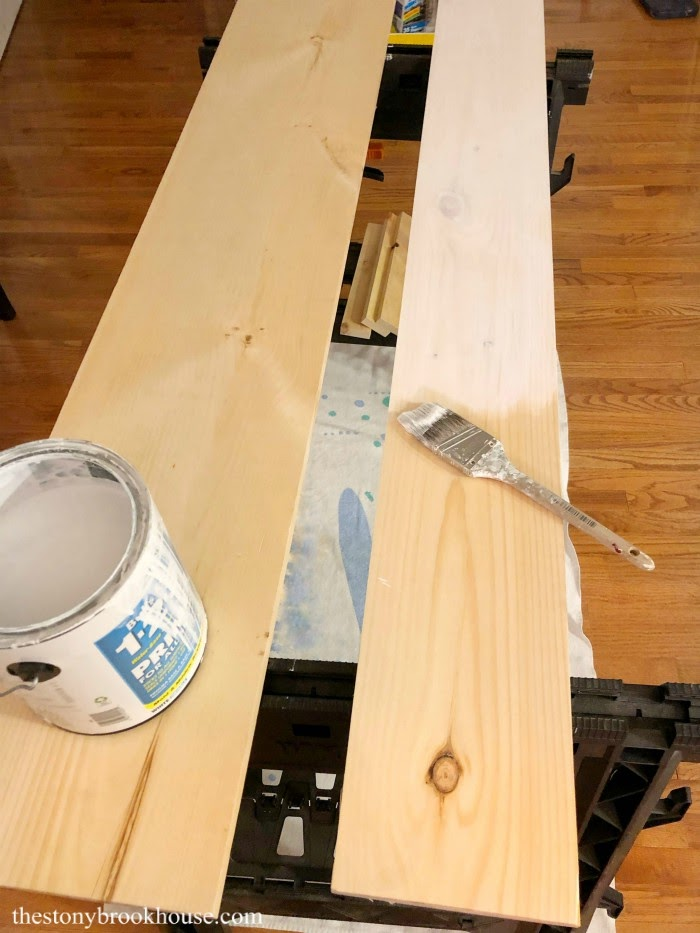 Painting shelf boards