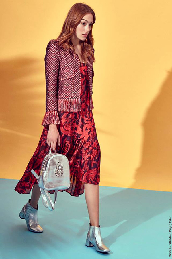 Moda primavera verano 2018 vestidos largos de moda. Moda 2018.