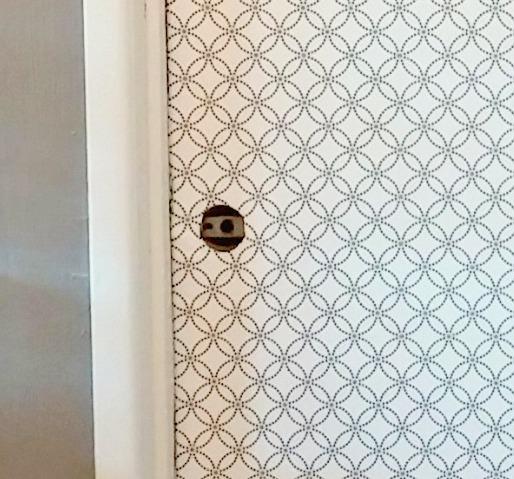 Interior Door Makeover With Peel Amp Stick Wallpaper