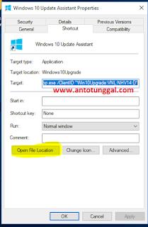 cara menghilangkan windows 10 update assistant permanen