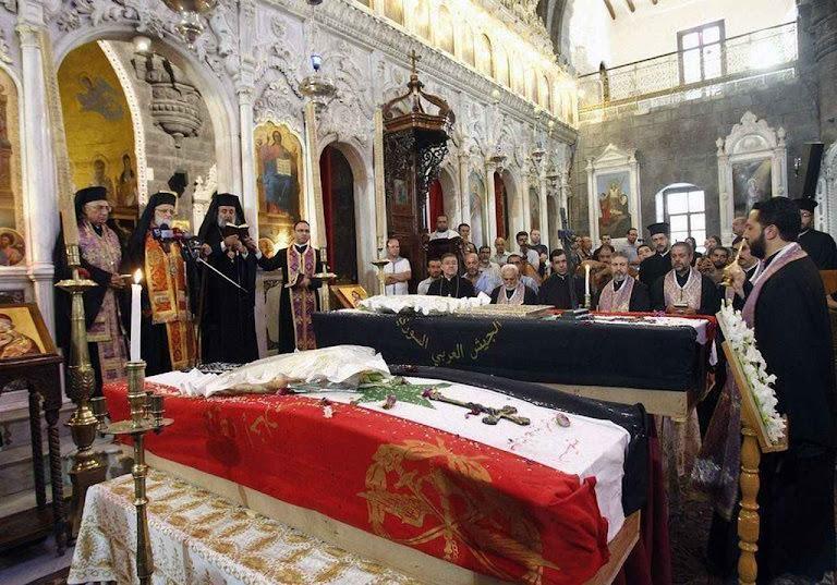 Mártires na Síria. Vale mais do que nunca o dito: 'O sangue dos mártires é semente de cristãos'.