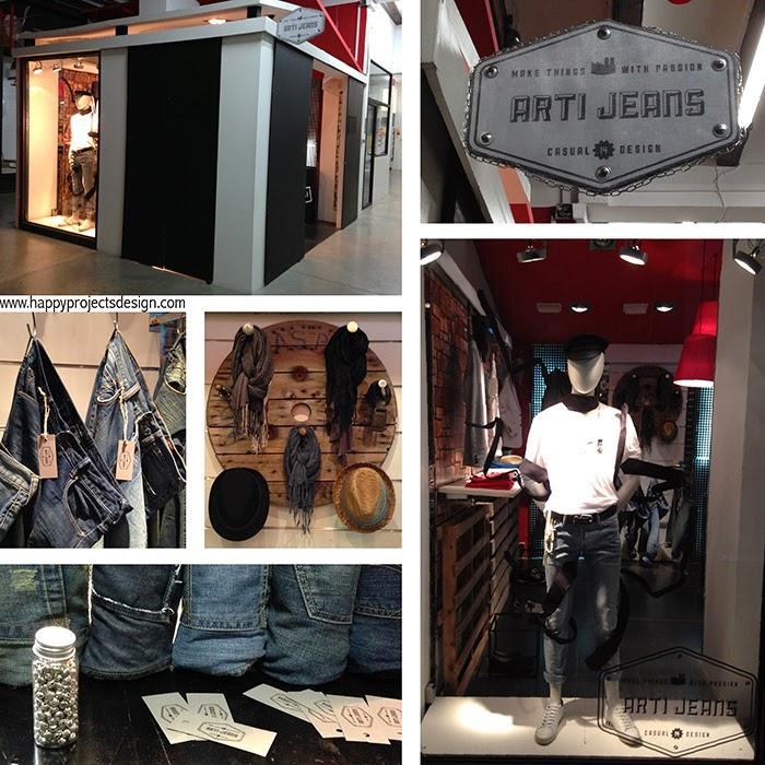 Pop-up Store para una marca de Jeans Industrial VIntage.