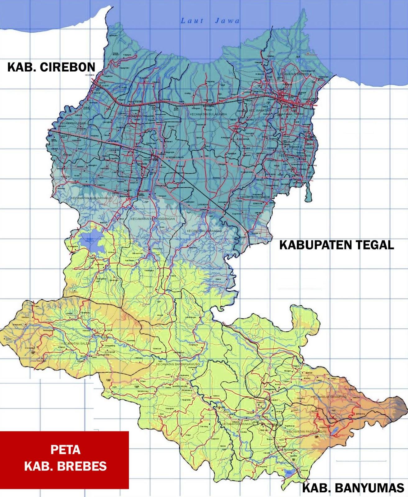 Gambar Peta Kabupaten Brebes
