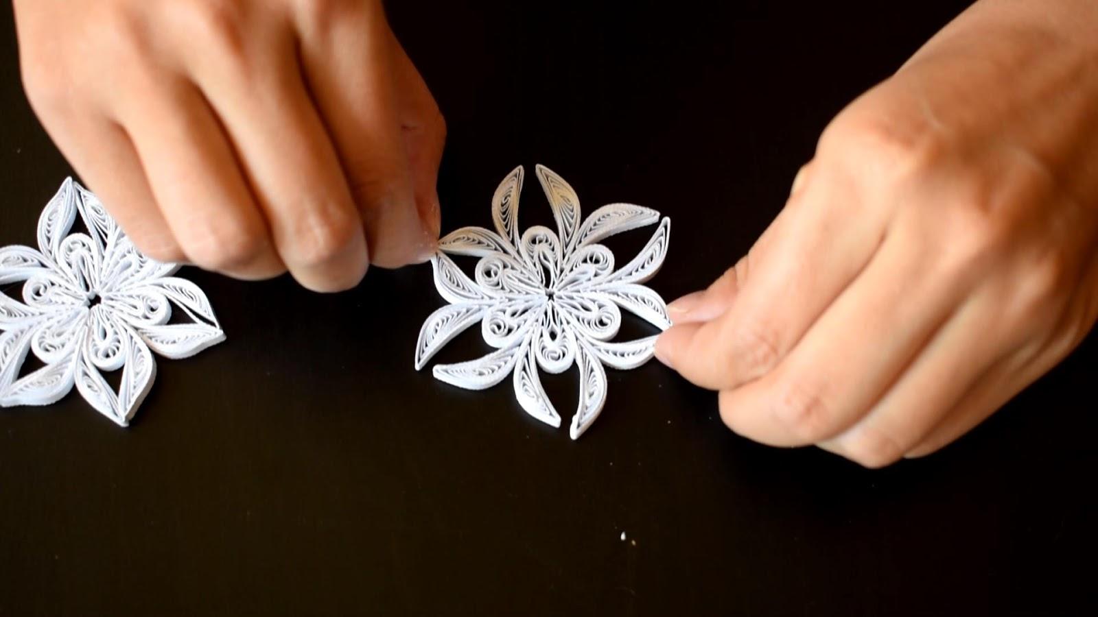 Ornamente Handmade pentru Craciun: Tutorial Fulg de Zapada Quilling #2- Circul Magic
