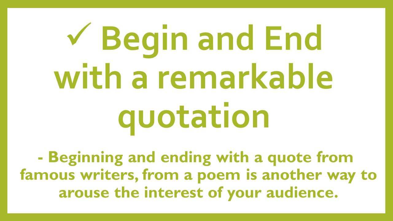 Speech writing help principles