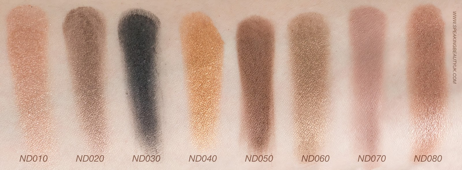 Zoeva Nude Spectrum Eyeshadow Palette swatch
