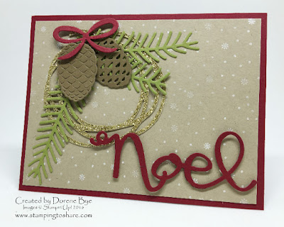 Stampin' Up! Christmas Pines Bundle with Swirly Scribbles Thinlits
