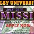 Wesley University Ondo Undergraduate Admission Form - 2018/2019 [Post-UTME / DE]