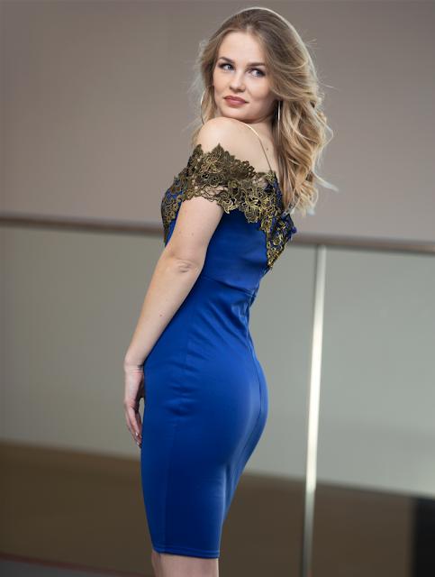 Elegant Mini Dress Denise Blue