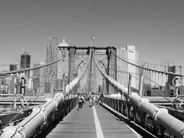 Paseo Puente de Brooklyn en Nueva York