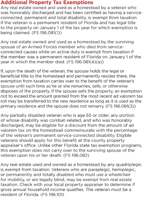 Disabled Veterans Property Tax Exemption North Carolina Vehicle