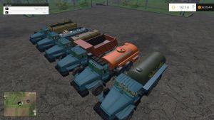 Ural Gazprom trucks pack