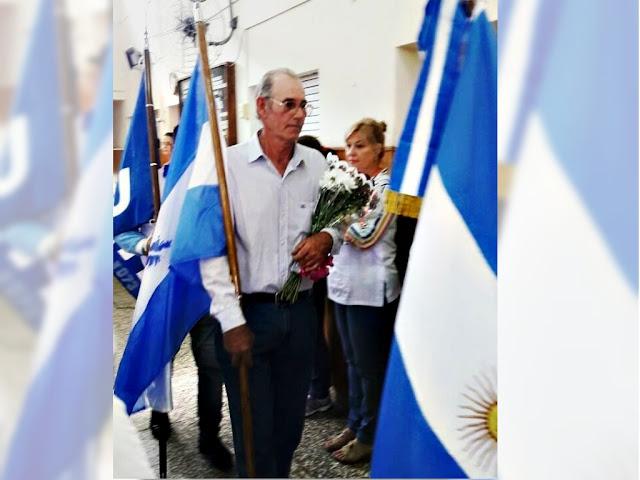 W. Escalante homenajearon por malvinas a un ex soldado que no participó del conflicto