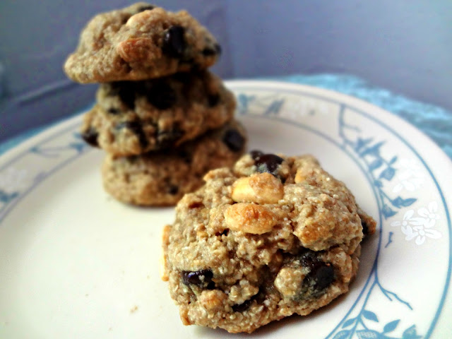 Healthy and Chewy Chocolate Chip Cookies with Nuts