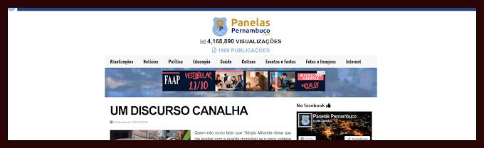 NOVO ARTIGO DE PIERRE LOGAN E O DISCURSO CANALHA DE SÉRGIO