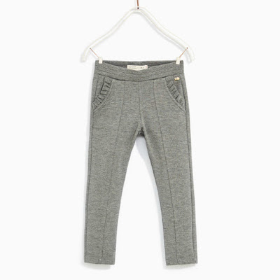 zara pantalon gris niña - mis compras en las rebajas