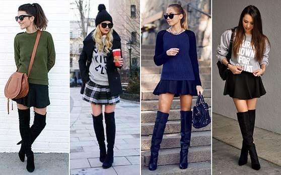 7 looks com botas over the knee - Dicas de como usar, fotos e imagens