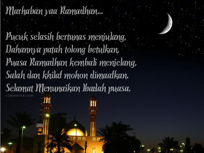 Gambar Kata Ucapan Selamat Menyambut Bulan Suci Ramadhan 1441 H