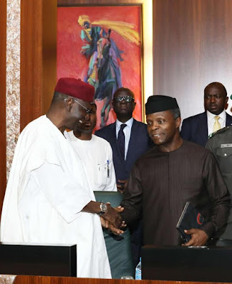 Our President Is Missing O!! Osibanjo Presides Over FEC Meeting While Buhari Absent Again 5