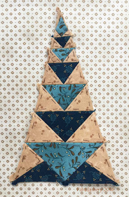 Dear Jane Quilt - Border Triangle Block  BR4 Candy Dish