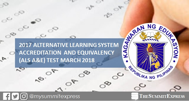 2017 DepEd ALS A&E Test moved to March 2018: memo, requirements