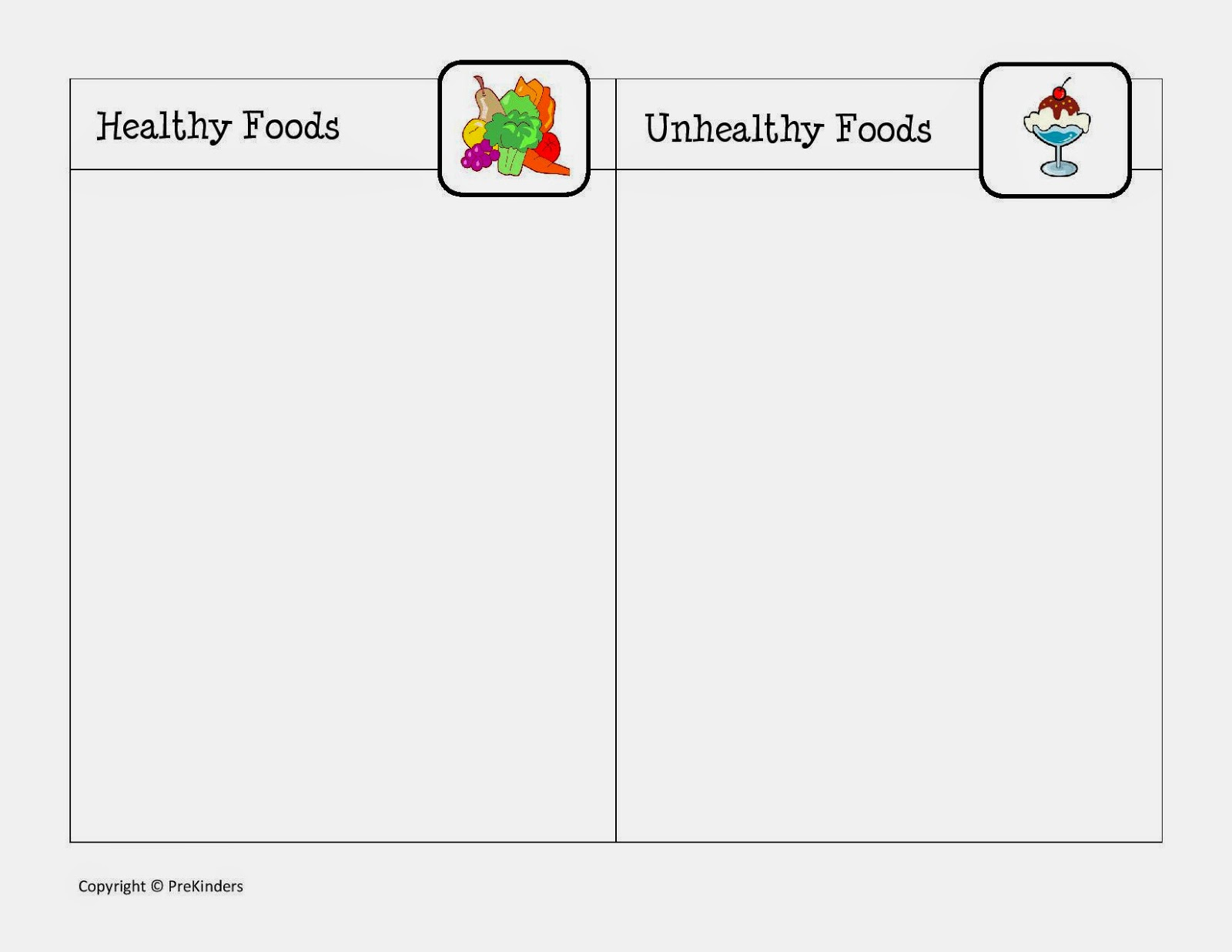 Free Esl Healthy Food Worksheets Bad Unhealthy Foods For