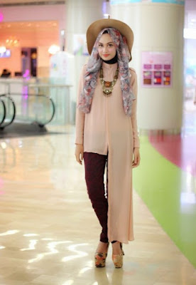 model hijab casual elegan