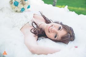 burlap and sola flower bridal bouquet