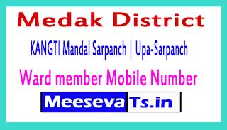 KANGTI Mandal Sarpanch | Upa-Sarpanch | Ward member Mobile Numbers Medak District in Telangana State