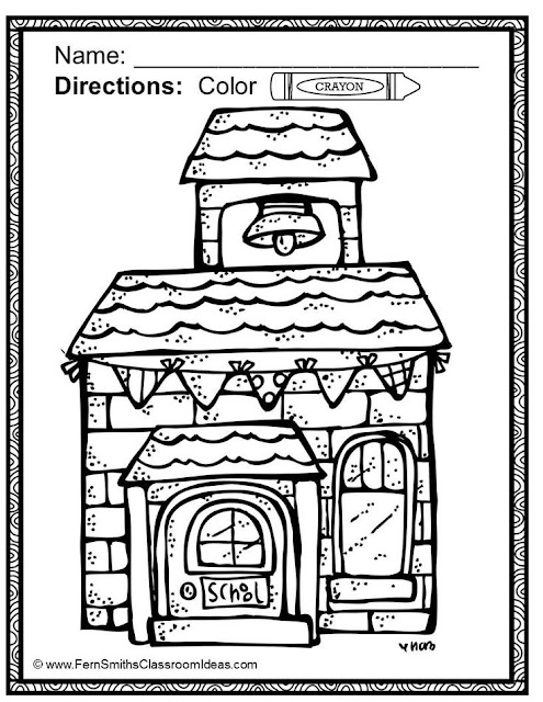 Fern Smith's Classroom Ideas Back to School Fun! Color For Fun Printable Coloring Pages