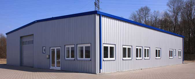 Industrial Shed, Steel Building Construction