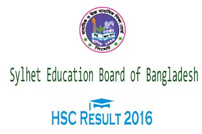 HSC result 2016 Sylhet board