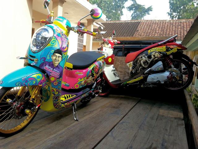 Honda Scoopy Beautiful Malang cutting sticker