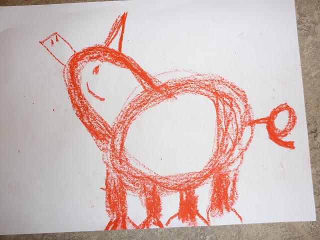 Kinder zeichnen Tiere
