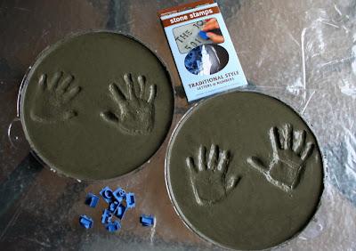 Handprints In Concrete Craft