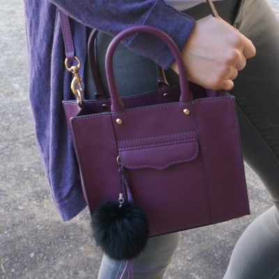 Rebecca Minkoff mini MAB tote in plum | away from the blue