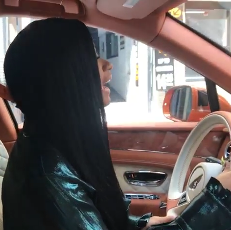 Cardi B Shows Off Her Newly Acquired Bentley Photos Video