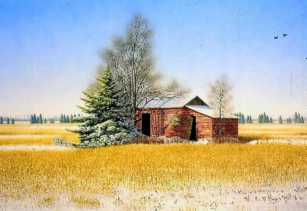 Im genes arte pinturas vistas de casas de campo en paisajes - Paisajes de casas de campo ...