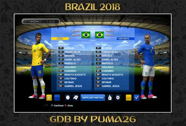 Brazil 2018 Kit PES 2013
