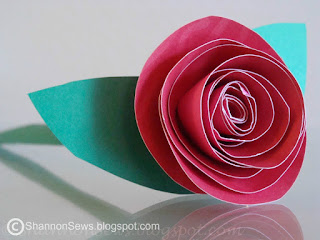 Make paper roses - easy for kids - indoor cold weather activities